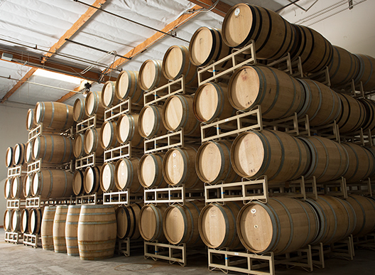 Multiple barrels are shown from the loch and union distillery in napa valley