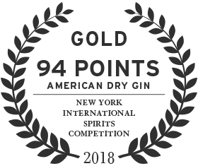94 points gold award in 2018 from the new york international spirits competition for american dry gin