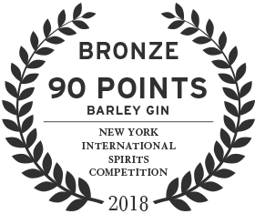 90 points bronze award for barley gin from the new york international spirits competition