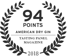 94 points score for american dry gin from tasting panel magazine in 2018