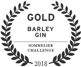 2018 Sommelier challenge gold award for loch & union barley gin