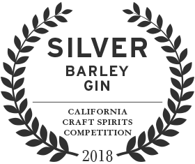 2018 silver award for loch and union barley gin