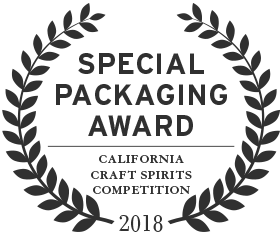 2018 special packaging award from the california craft spirits competition