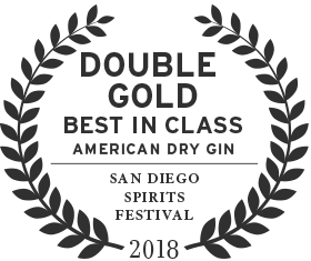 2018 san diego spirits festival double gold best in class for american dry gin