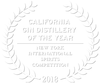 2018 California gin distillery of the year by the new york international spirits competition