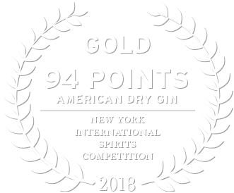Gold award in 2018 from the new york international spirits competition for american dry gin