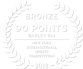 2018 bronze award 90 points for loch & union barley gin from the new york international spirits competition
