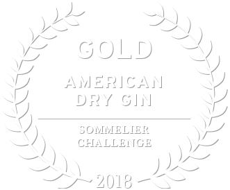 2018 gold award from sommelier challenge for loch & union american dry gin