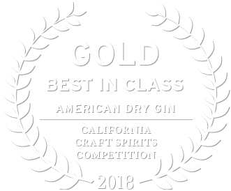 2018 gold award best in class american dry gin from the california craft spirits competition