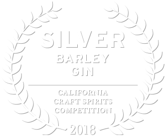 2018 california craft spirits competition silver award for barley gin