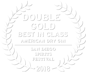 2018 double gold award from the san diego spirits festival best in class american dry gin