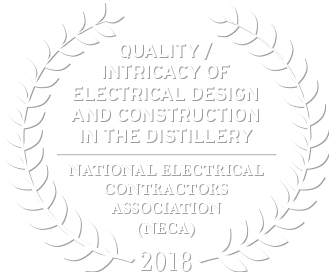 2018 Award for National Electrical Contractors Association Quality Intricacy of Electrical Design and Construction in the Distillery